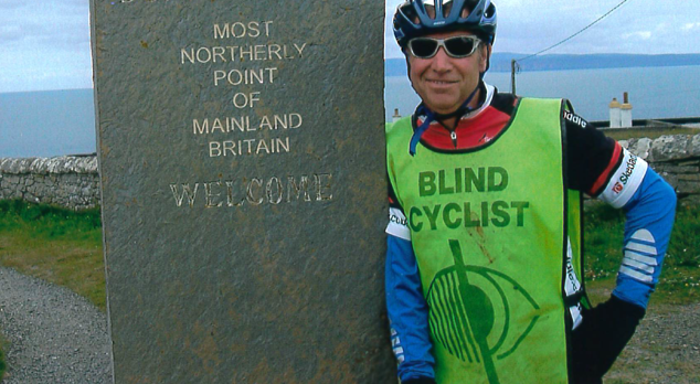 Keith Lauder completing his Lands End to John OGroats Challenge