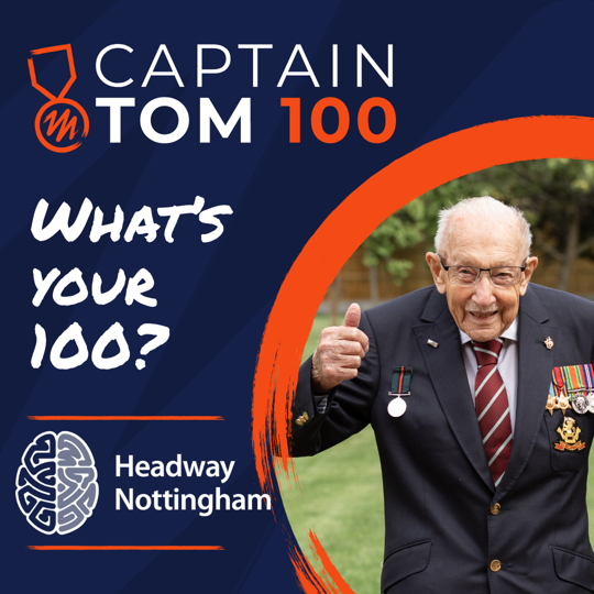 #CaptainTom100 for Headway Nottingham