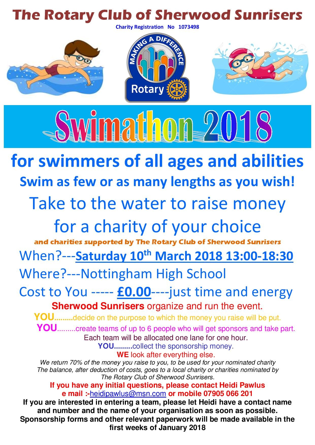 Sherwood Sunrisers Swimathon 2018