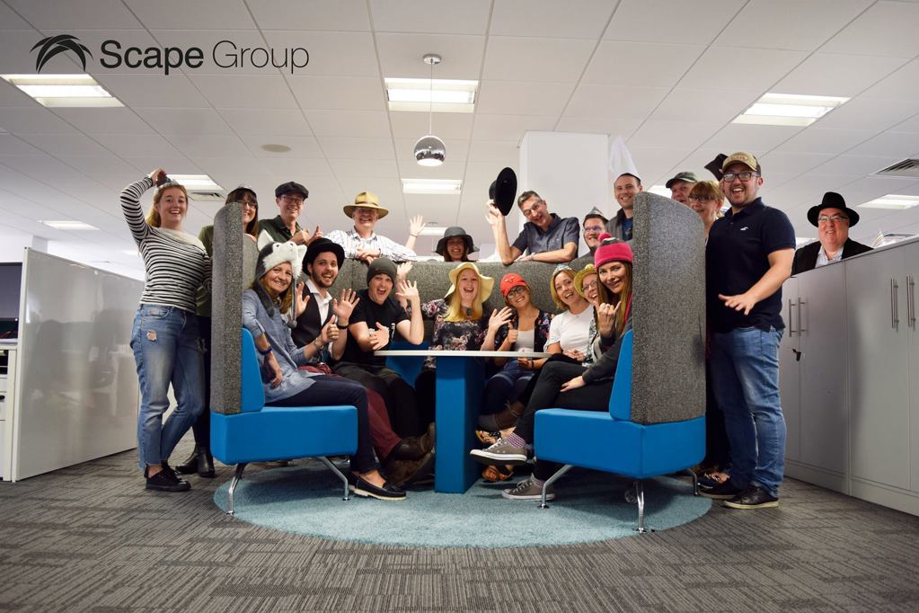 Nottinghams Scape Group lead the way on Hats for Headway Day 2018