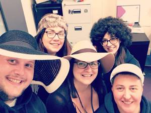 Headway Nottinghams Team on Hats for Headway Day 2018