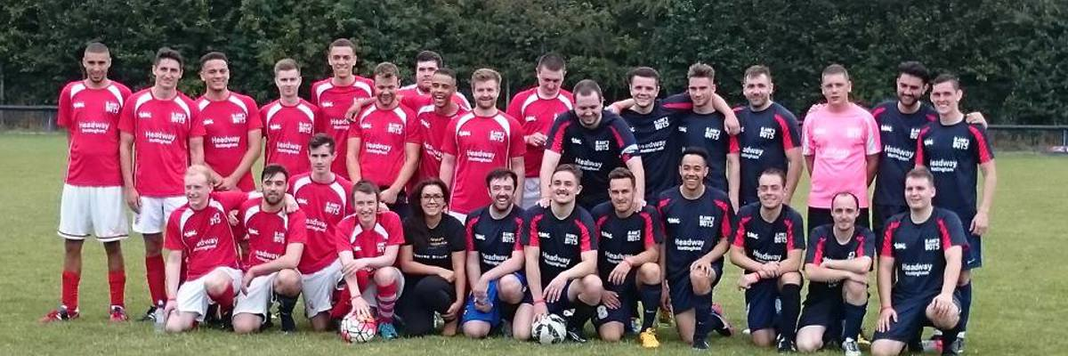 Blaines Boys supporting Headway Nottingham with their annual Blaines Game